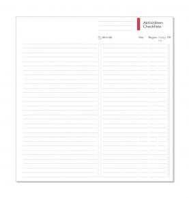 Compact Formblatt Aktivitäten-Checkliste