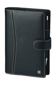 Compact Ringbuch Montana mit Verschlusslasche Schwarz