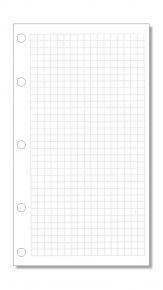 Notizpapier kariert weiß für Mini-Systeme
