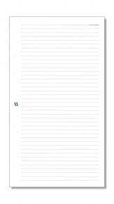 Notizpapier liniert weiß für Mini-Systeme