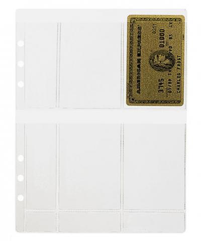 A5 Klarsichthülle für 8 Kreditkarten