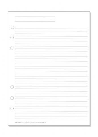 A5 Formblatt Liniertes Papier