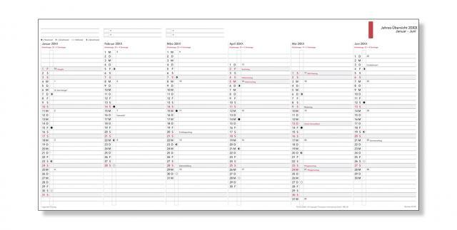 A5 Formblatt Jahres-Übersicht nach Tagen 2020