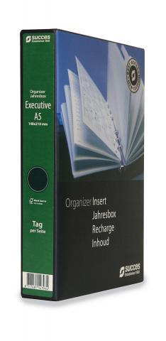 Jahresbox A5 Executive 2020 Wochenplanung Creme (4-sprachig)