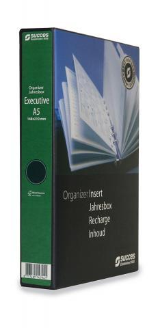Jahresbox A5 Executive 2021 Tagesplanung Creme (4-sprachig)