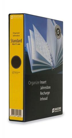 Jahresbox Standard Wochenplanung 2021, 4-sprachig, creme