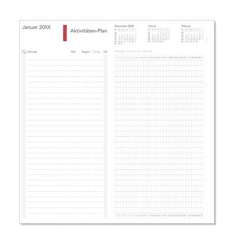 Compact Formblätter Aktivitäten-Plan 2018 / Monate