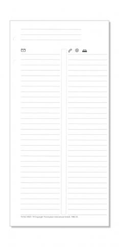 Compact Formblatt Telefon/Adressen