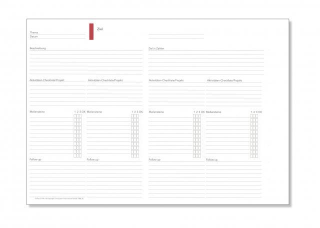 A5 Formblatt Ziele