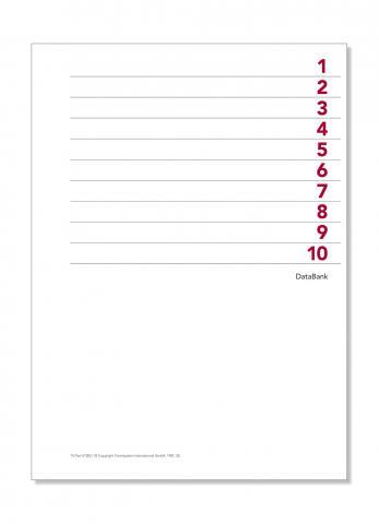 A5 Formblatt Index 1-10