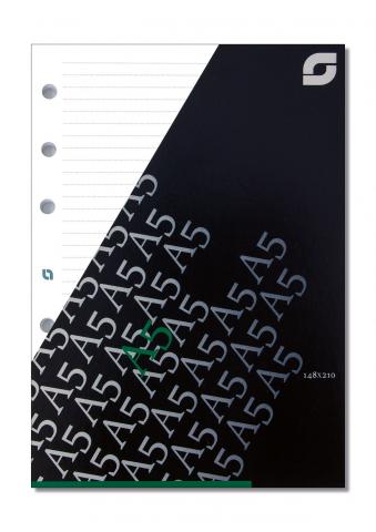 Notizpapier liniert weiß für A5 Executive-Systeme