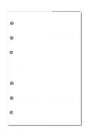 Notizpapier blanko weiß für Standard-Systeme