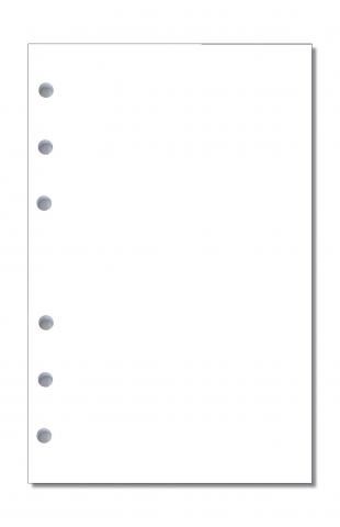 Notizpapier blanko weiß für A5 Executive-Systeme