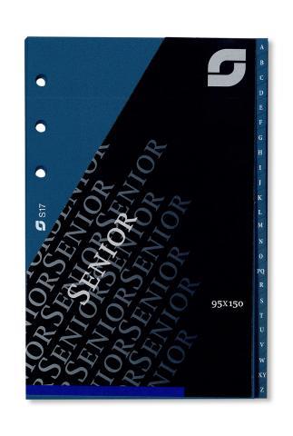 ABC-Register 24-teilig aus Kunststoff für Senior-Systeme