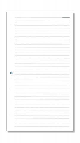 Notizpapier liniert weiß für Standard-Systeme