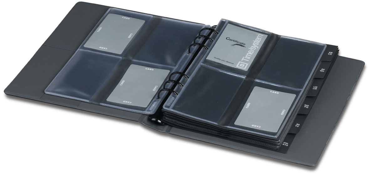 Time System A5 Business Card Organizer